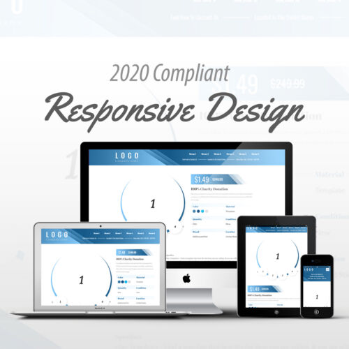 2020 Compliant Mobile Responsive eBay Auction Listing Template Circle Design 02
