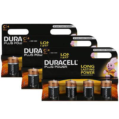 12 x Duracell Baby C Plus Power LR14 UM2 MN1400 Batterie 1,5V Alkaline 12 St Duracell Plus Power Batterie