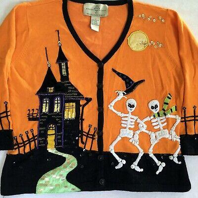Design Options Sweater Halloween Skeleton Haunted House Philip Jane Gordon S  (Phillip Halloween)