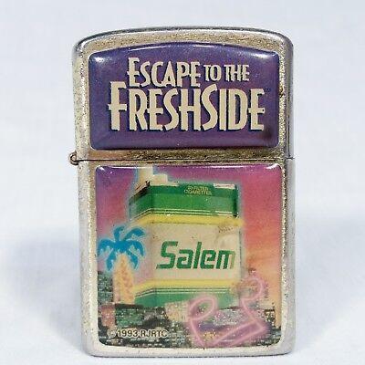 Vtg Salem Cigarette Lighter Escape to Fresh Side Firebird New Flint WORKS