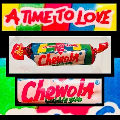 Vintage 1991 Swell CHEWOLA Crayon Bubble Gum .5 SEALED candy container fleer