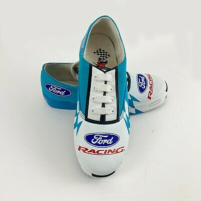 JER Sports Ford Racing Deadstock Retro Unique New Shoes Boys 4 | Womens 6 Rare - Unique Boys Shoes