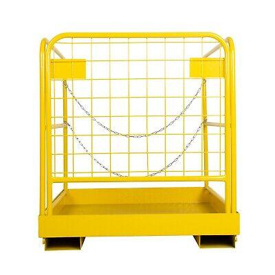 36x36 Forklift Safety Cage Steel Sturdy Work Platform Lift Aerial Basket 900lb