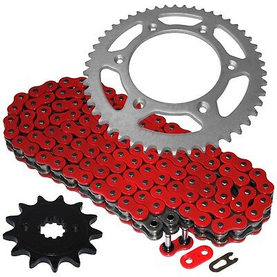 Red O-Ring Drive Chain w/Front Rear Sprockets Kit Fits HONDA XR250R 1996-2004 ()