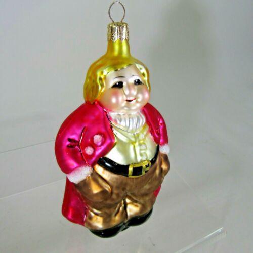 "Christopher RADKO 1994 RING MASTER 5"" fat man X-mas Ornament #94-061-0 circus"