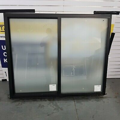 Aluminium Sliding Window 1205H x 1445W (Item 4771) Black DOUBLE GLAZED