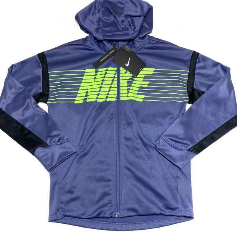 Nike Boys Therma Full Zip Hoodie Logo BV3780 557  Size XL NWT