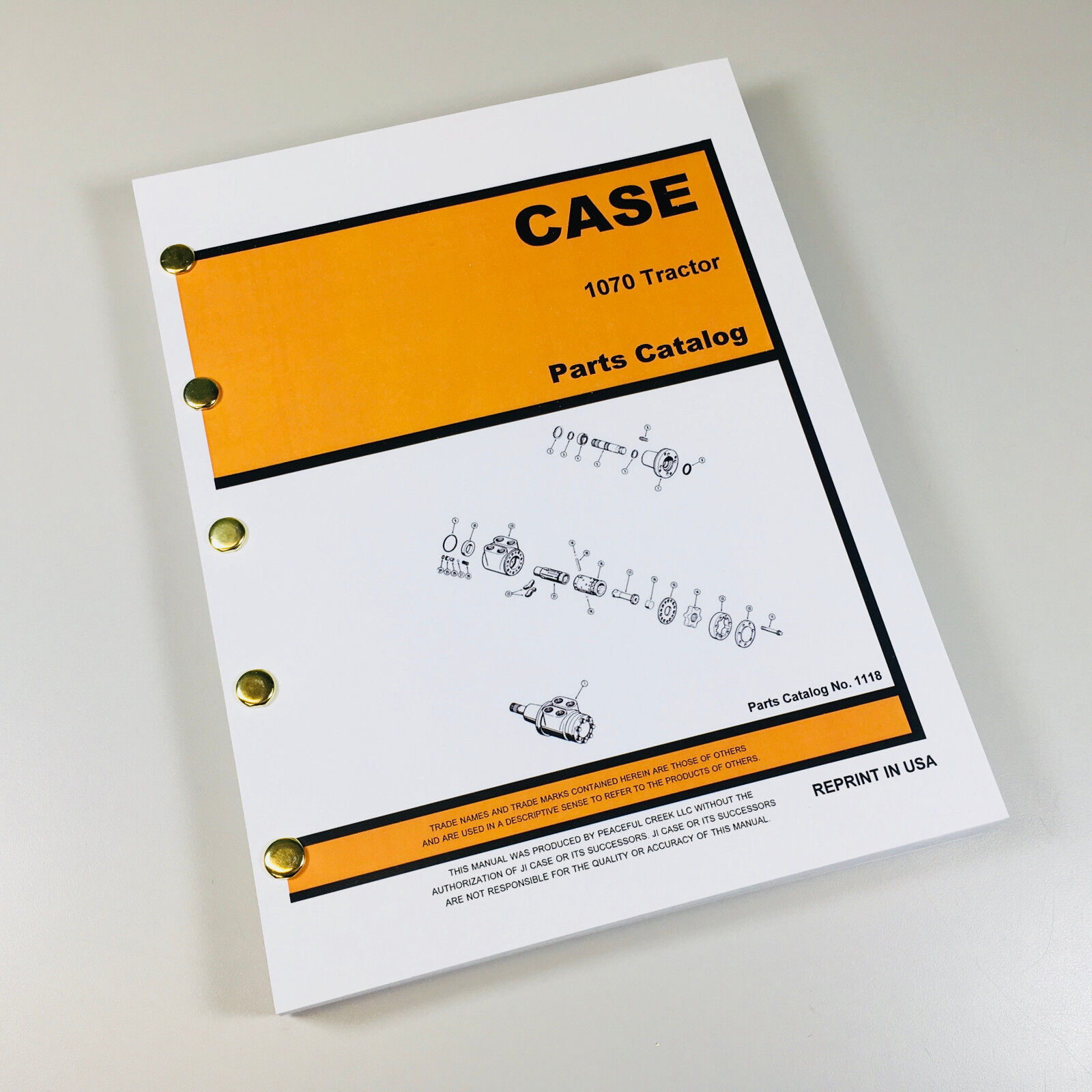 Case 1070 Parts Catalog. Fully Covers all years and serial numbers 1070  Tractor