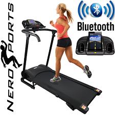 BLUETOOTH Nero Sport Manual Incline Folding Running Machine Motorised Treadmill