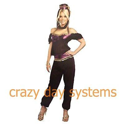urple Genie Halloween Costume Cosplay Womens S 4/6 New (Genie Halloween-kostüme)