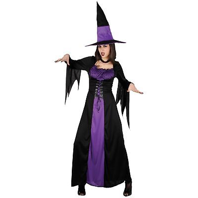 Spellbound Classic Long Witch Purple Halloween Lady Womens Fancy Dress - Spellbound Witch Costume