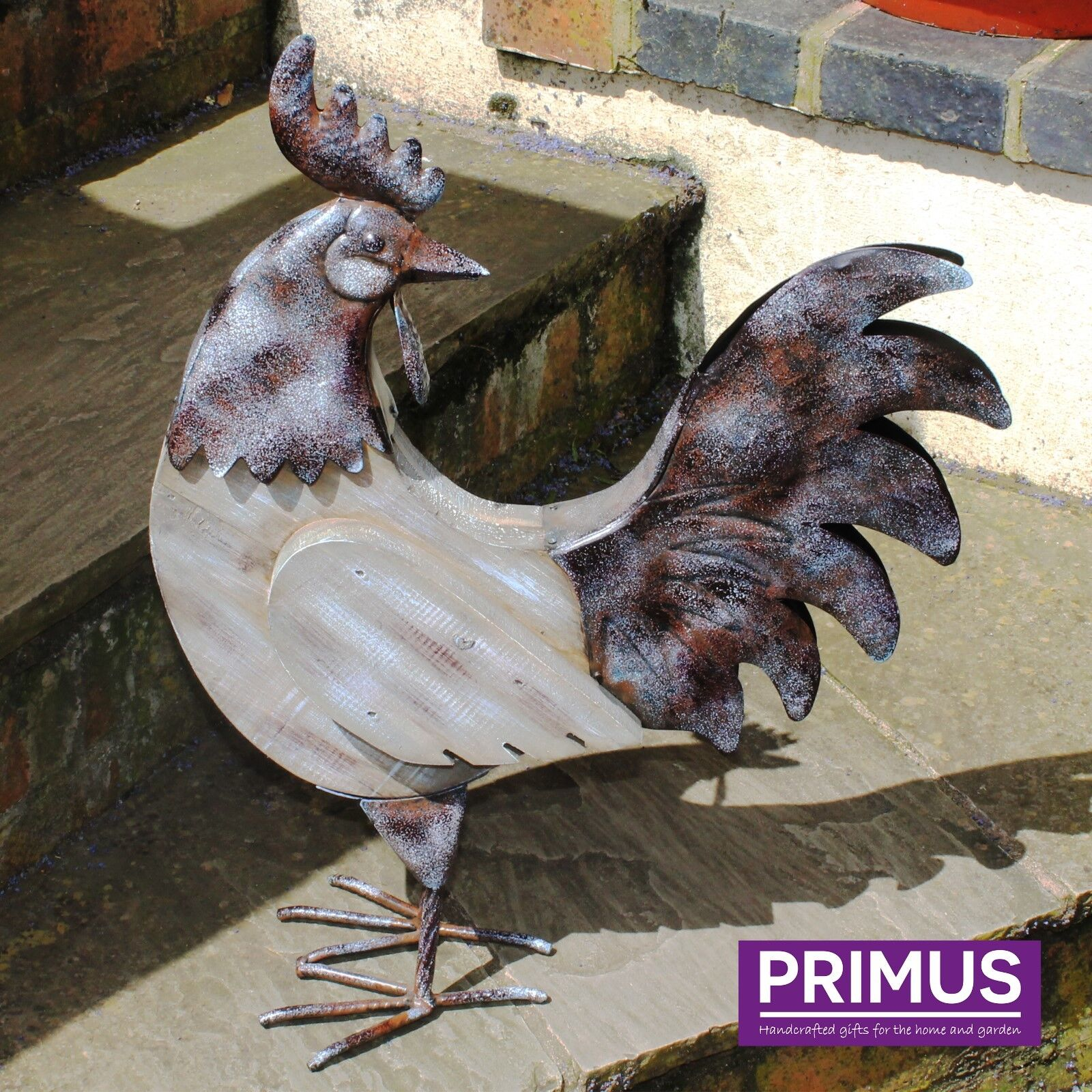 Primus Hand Crafted Large Métal Toucan Décoration De Jardin Sculpture Pelouse Bird