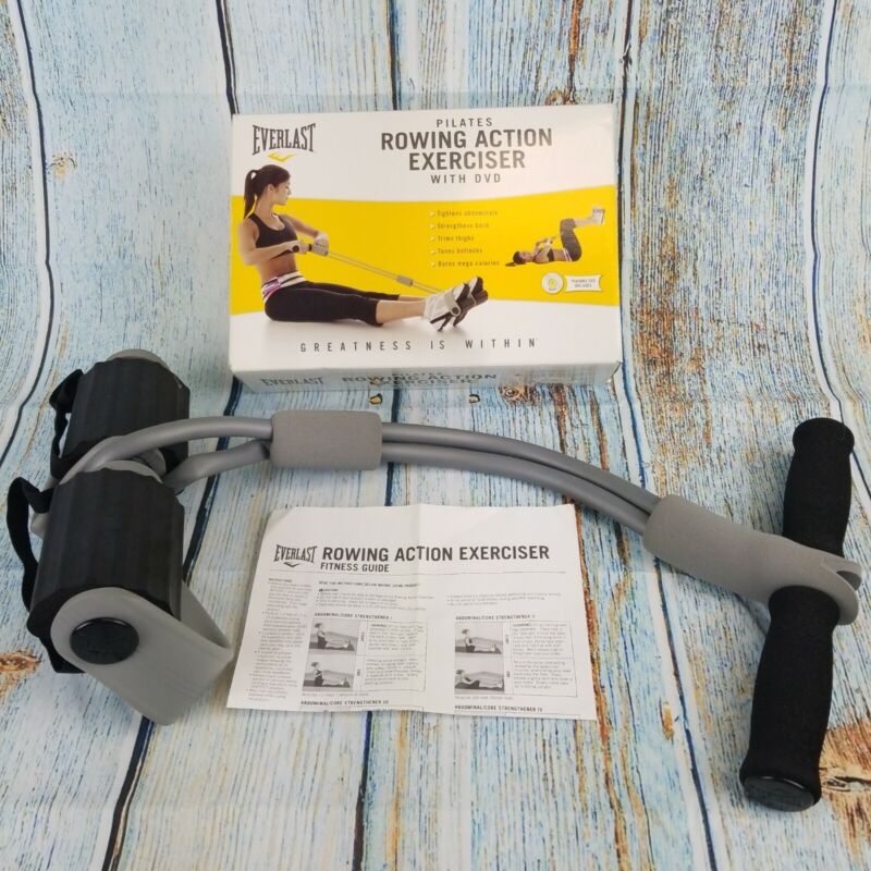Everlast Pilates Rowing Action Exerciser Abs Thigh Butt Workout Machine Elastic