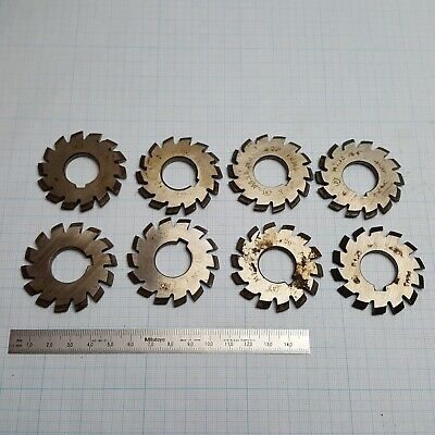 Involute Gear Cutter Set M1.25 Pa20 Hss 1-8 Spline Modulfrser Zahnradfrser