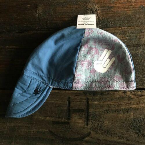 SHOCKER Marbled Blue/Wh Welding Hat Welder Hats Cap Protective Pipefitter Beanie