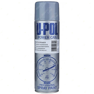 Isopon U-Pol Powercan Etch Primer Spray Paint Aerosol Anti-Corrosive 500ml