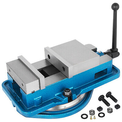 5 Milling Machine Lockdown Vise Swiveling Base Bench Top Hardened Base