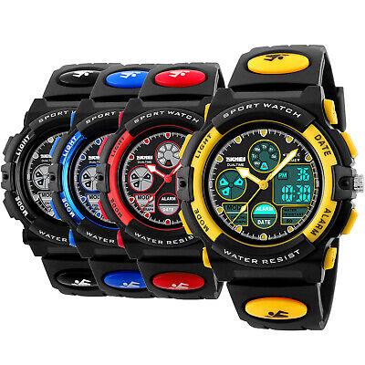 SKMEI Men's Date Fashion Sport Quartz Digital 50M Waterproof Unisex Watches US
