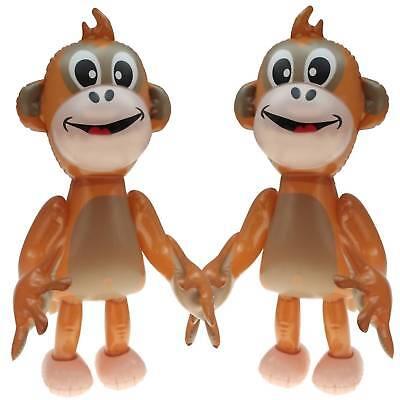 2 x Aufblasbarer lächelnder Affe 50 cm hoch Dschungel Tier Zoo Affen Figur