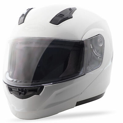 GMAX MD04 Modular Motorcycle Helmet (Pearl White) S (Small)