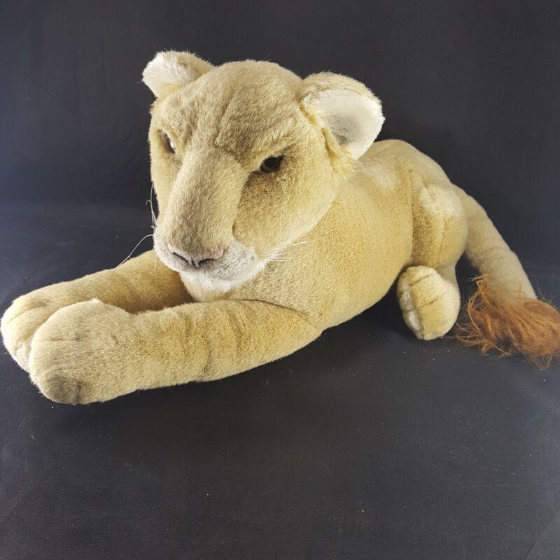 "MGM Grand Las Vegas Lion Habitat Plush Stuffed Realistic Animal 21"" Long Soft"