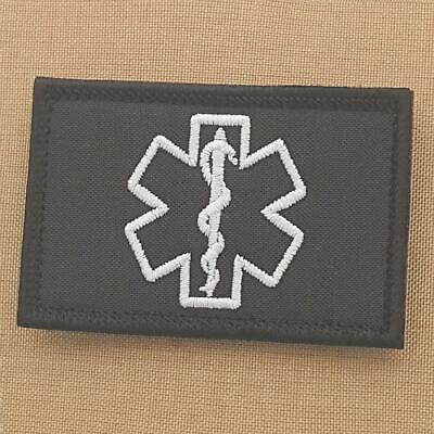 Medic EMS 2x3 25 embroidered military paramedic EMT hook patch