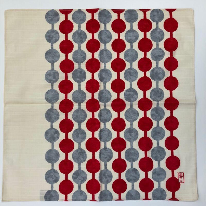 Japanese Furoshiki Red Dumpling Yumeji Takehisa Wrapping Cloth Cotton 100%