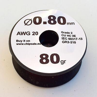 0.8 Mm 20 Awg Gauge 80 Gr 16 M 2.8 Oz Magnet Wire Enameled Copper Coil