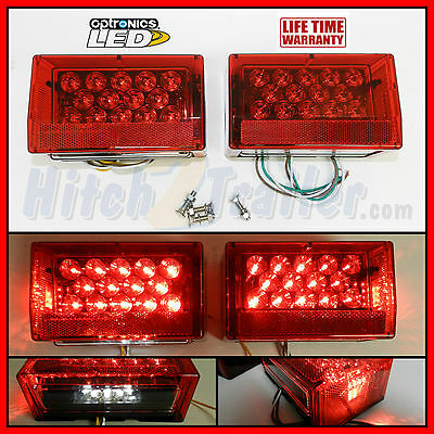 Submersible LED Combination Trailer Tail Lights Stud Mount, Marine, Boat PAIR