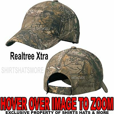 Men's Realtree Xtra Camo Hat Baseball Cap Hunting Adjustable NEW!