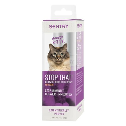 "SENTRY ""Stop That"" Behavior Correction Spray for Cats 1 ounce"