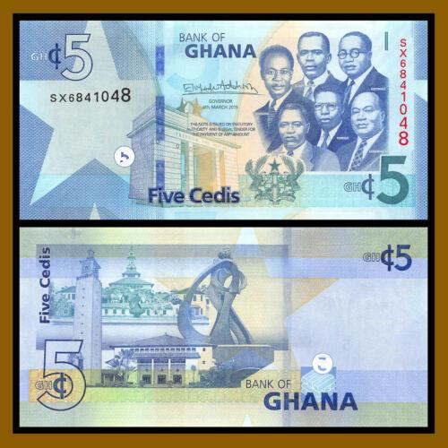 Ghana 5 Cedi, 2019 P-New Unc