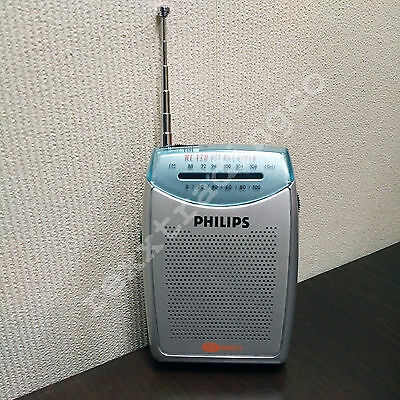 ***NEW*** PHILIPS RL120 Portable Pocket Compact FM Radio