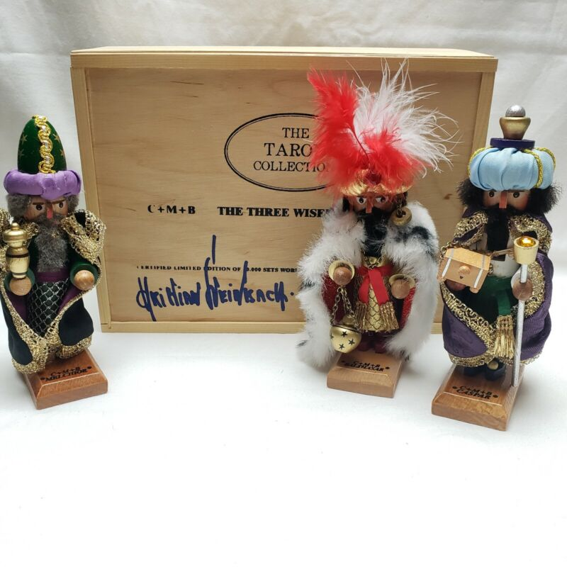 SIGNED Steinbach Three Wise Men Mini Nutcrackers Set LIMITED EDITION Taron