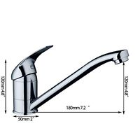 Long Spout Deck Mounted Kitchen Sink Faucet Brass Mixers Taps With Hoses--120mm - ouboni - ebay.co.uk