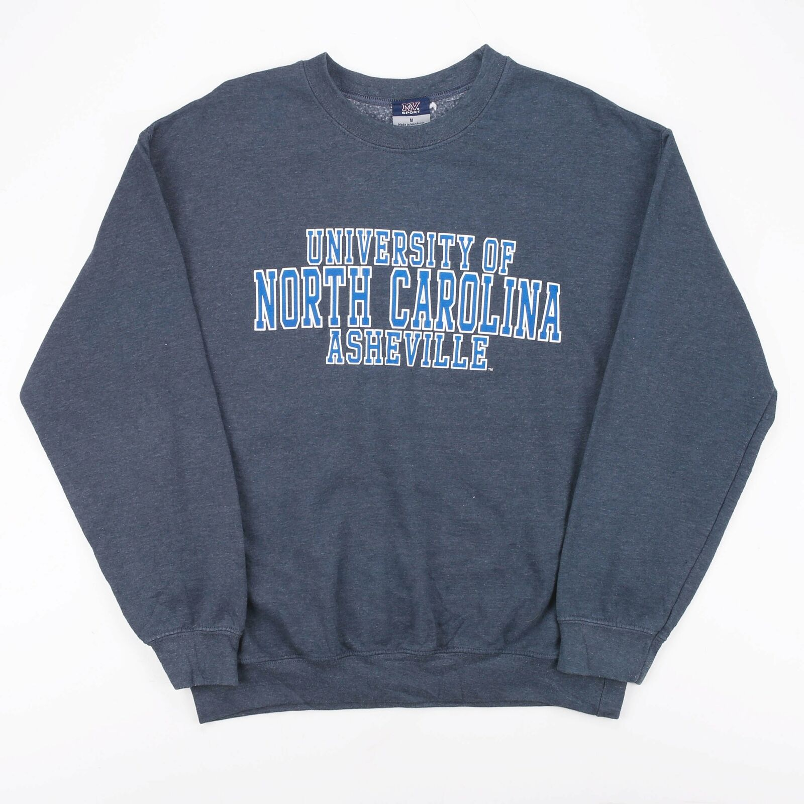 Vintage MV SPORTS NORTH CAROLINA Blue College Crew Neck Sweatshirt Mens M