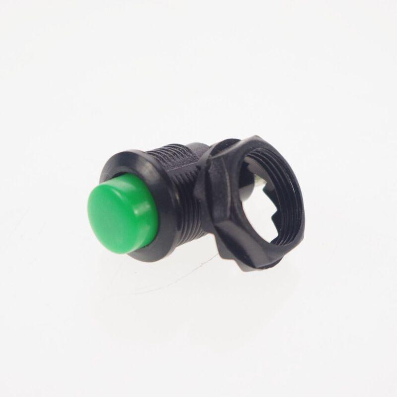5)Green 2 Pin SPST Miniature 2A 125VAC 12mm Hole NO Momentary Push Button Switch