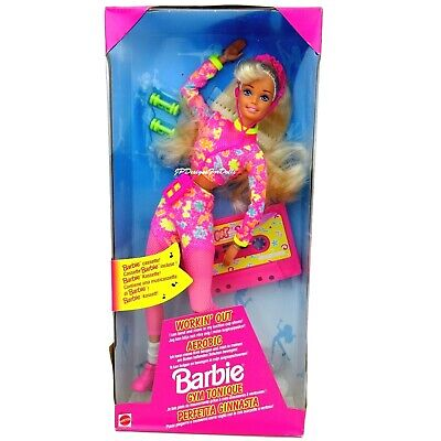 1996 Workin Out Barbie Doll with Cassette