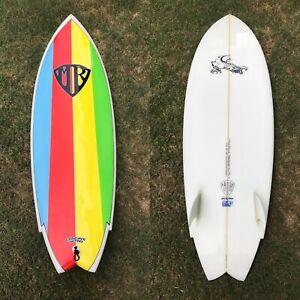 Mark Richards 5'10 Concave Retro Twin Fin Surfboard 5'10