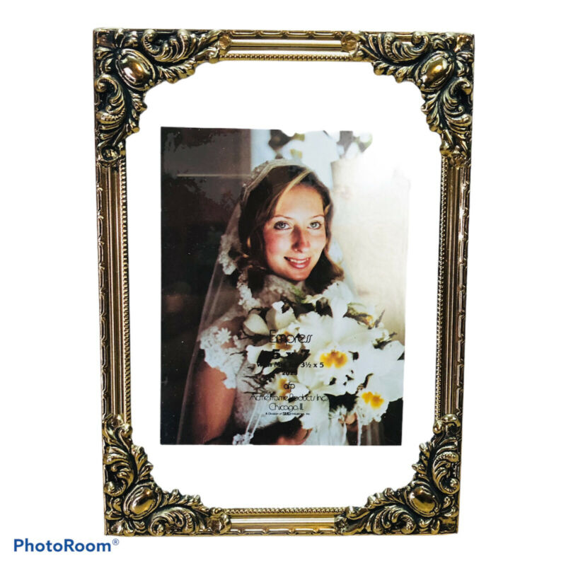 Acme Frame Products Empress 5x7 Vintage Gold Tone Ornate Photo Picture Frame
