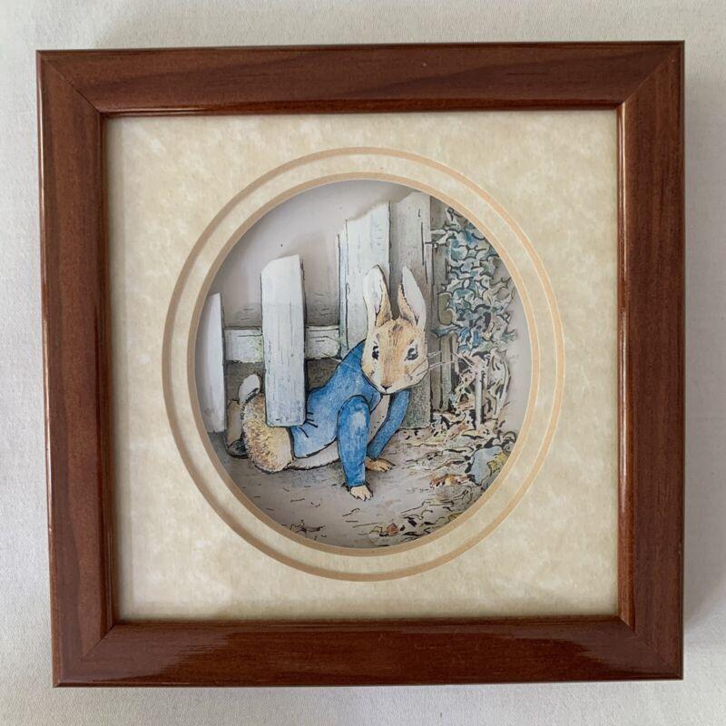 "Classic Beatrix Potter 3D Living Picture De'coupage John Ellam 5 1/2"""