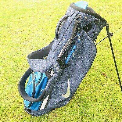 Nike Golf Bag EXtreme Sport 5 Way Lightweight Carry Stand Dual Strap Blue Grey