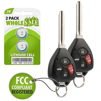2 Replacement For 2011 Toyota Camry Keyless Entry Car Key Fob Remote