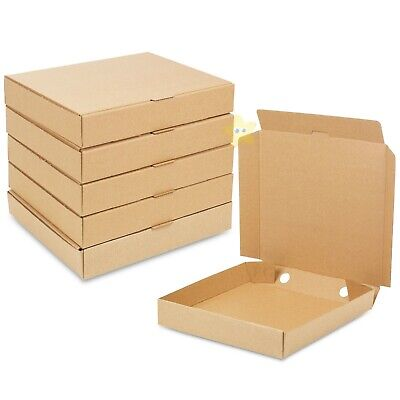 25 x 15 inch BROWN High Quality Strong Takeaway Plain Fast Food Pizza Boxes