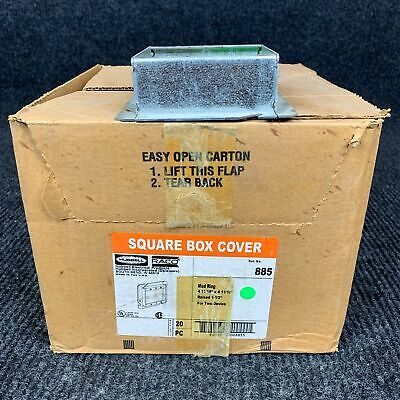 Lot Of 20 Hubbell 885 Mud Ring Square Box Cover