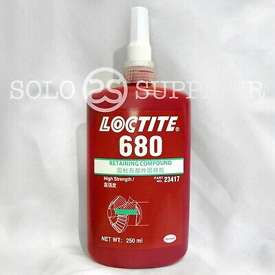 Loctite 680 High Strength Retaining Compound 250ml - Exp 52021