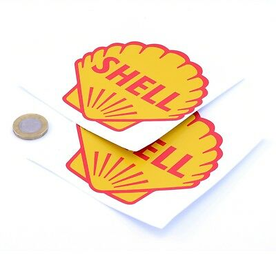 Shell Stickers Classic Car Motorcycle Racing Sticker 1950s Vinyl Decals 100mm x2