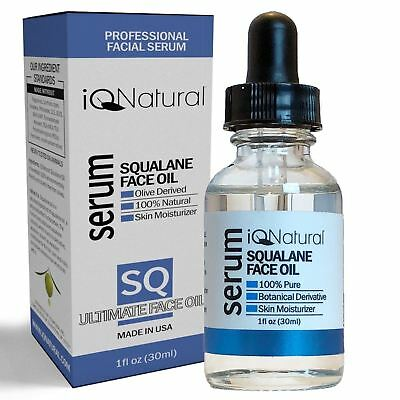 100% Pure Cold Press SQUALANE (Olive) Oil OLEIC ACID Restores Skin Elasticity