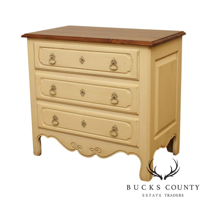Ethan Allen French Country Painted, 3 Drawer Chest Nightstand