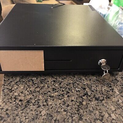 Cash Drawer Box With Key 4bill Coin Tray